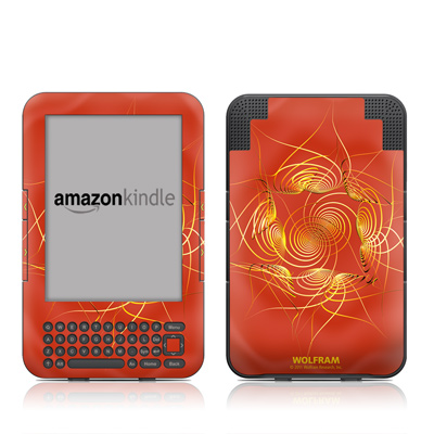 Kindle Keyboard Skin - Spiral Stellations