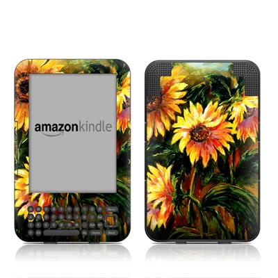 Kindle Keyboard Skin - Sunflower Sunshine