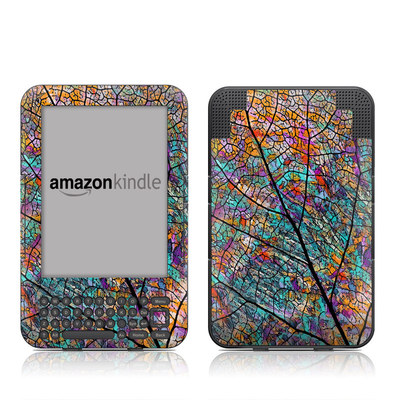 Kindle Keyboard Skin - Stained Aspen