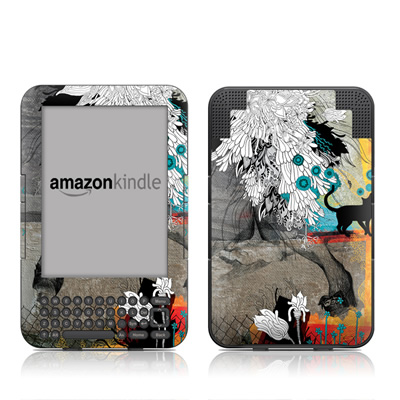 Kindle Keyboard Skin - Stay Awhile