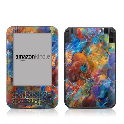 Kindle Keyboard Skin - Strings & Things