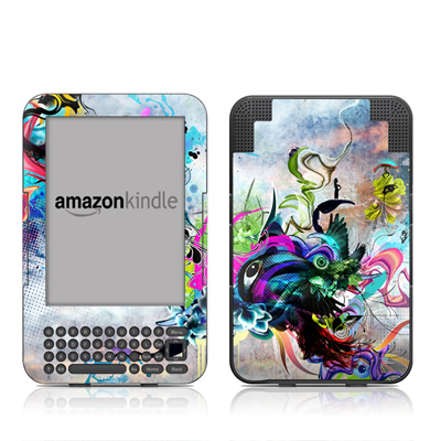 Kindle Keyboard Skin - Streaming Eye