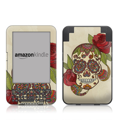 Kindle Keyboard Skin - Sugar Skull