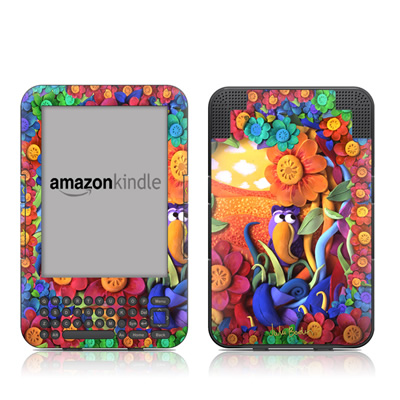 Kindle Keyboard Skin - Summerbird