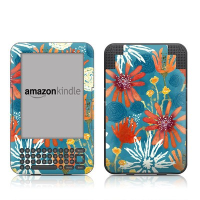 Kindle Keyboard Skin - Sunbaked Blooms