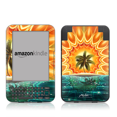 Kindle Keyboard Skin - Sundala Tropic