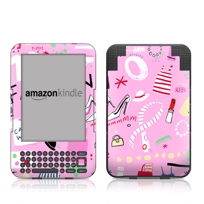 Kindle Keyboard Skin - Tres Chic
