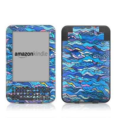 Kindle Keyboard Skin - The Blues