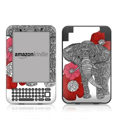 Kindle Keyboard Skin - The Elephant