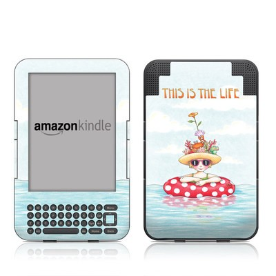 Kindle Keyboard Skin - This Is The Life