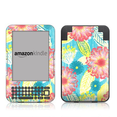 Kindle Keyboard Skin - Tickled Peach