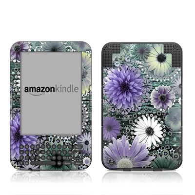 Kindle Keyboard Skin - Tidal Bloom