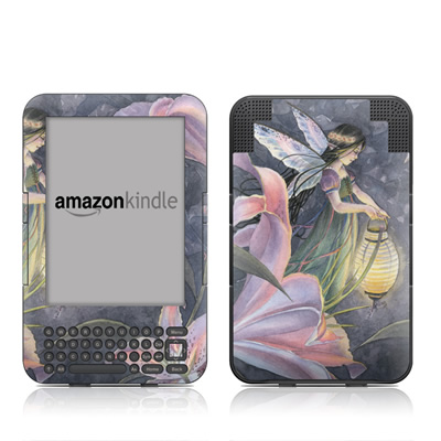 Kindle Keyboard Skin - Twilight Lilies
