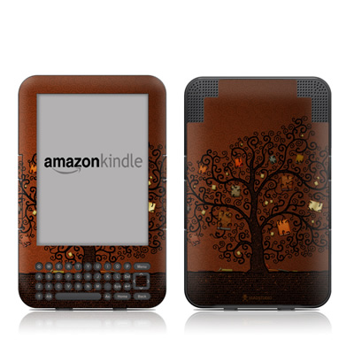 Kindle Keyboard Skin - Tree Of Books