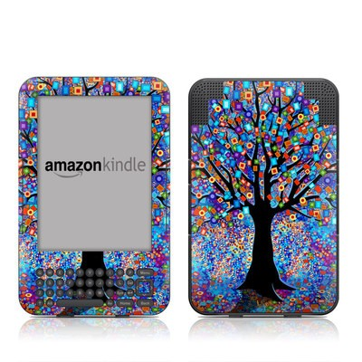 Kindle Keyboard Skin - Tree Carnival