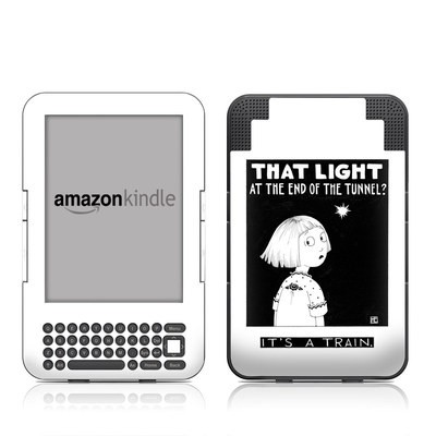 Kindle Keyboard Skin - Train Tunnel