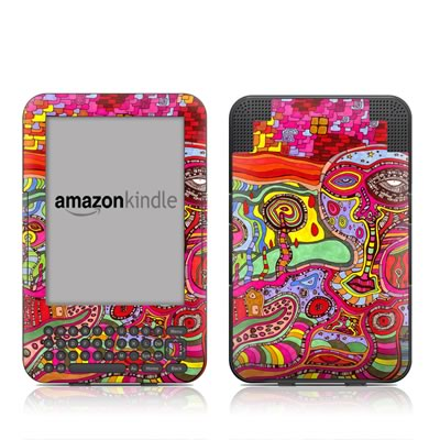 Kindle Keyboard Skin - The Wall