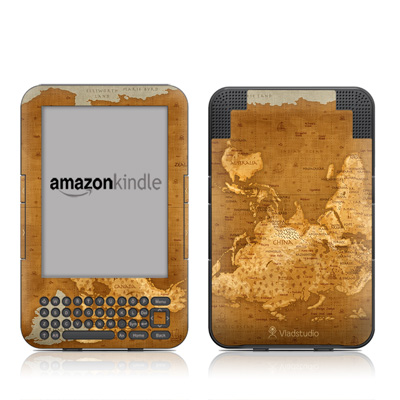 Kindle Keyboard Skin - Upside Down Map