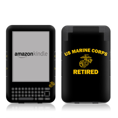 Kindle Keyboard Skin - USMC Retired