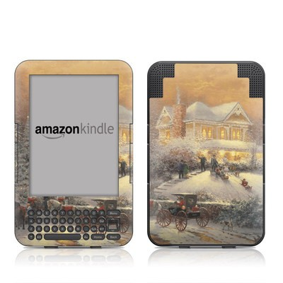 Kindle Keyboard Skin - Victorian Christmas