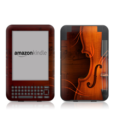 Kindle Keyboard Skin - Violin