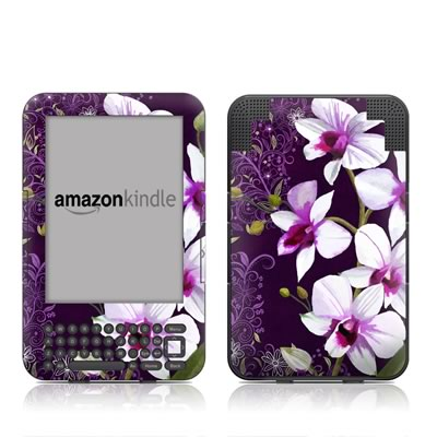 Kindle Keyboard Skin - Violet Worlds