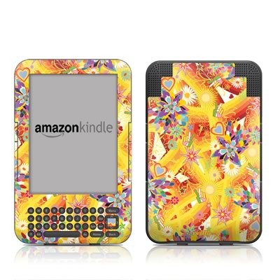 Kindle Keyboard Skin - Wall Flower