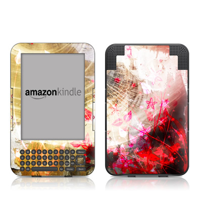 Kindle Keyboard Skin - Woodflower