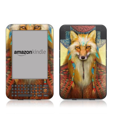 Kindle Keyboard Skin - Wise Fox