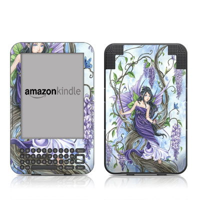 Kindle Keyboard Skin - Wisteria