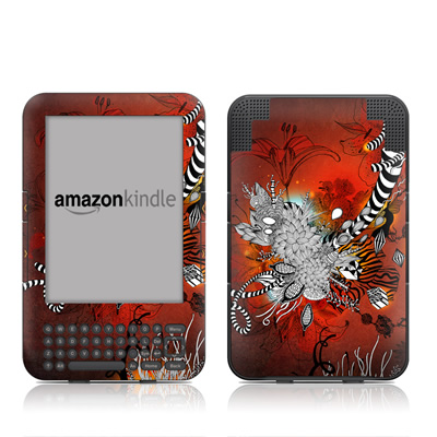 Kindle Keyboard Skin - Wild Lilly