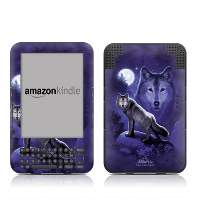 Kindle Keyboard Skin - Wolf