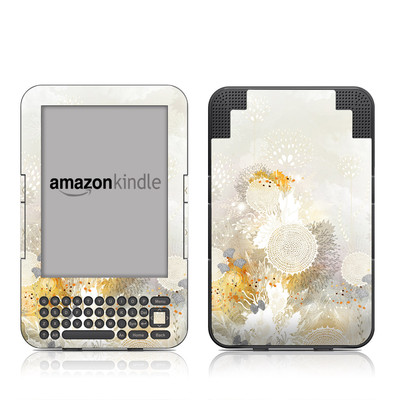Kindle Keyboard Skin - White Velvet