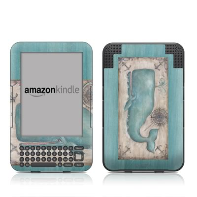 Kindle Keyboard Skin - Whale Watch