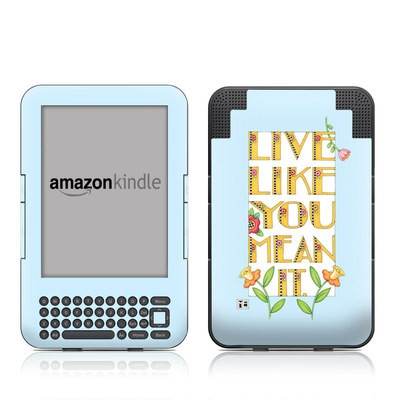 Kindle Keyboard Skin - Mean It
