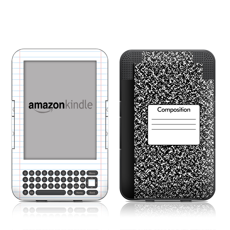 Kindle Keyboard Skin - Composition Notebook