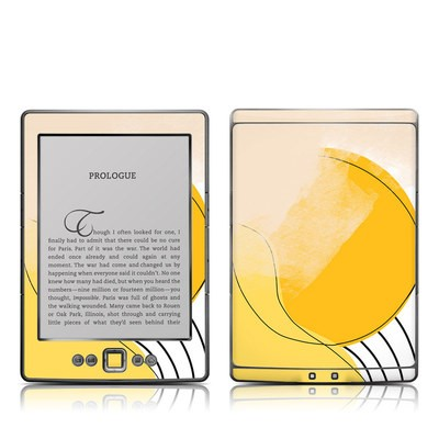 Kindle 4 Skin - Abstract Yellow