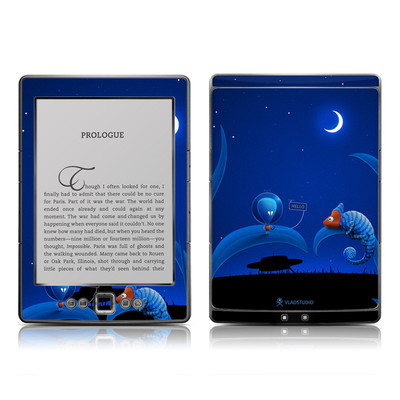 Kindle 4 Skin - Alien and Chameleon