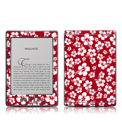 Kindle 4 Skin - Aloha Red