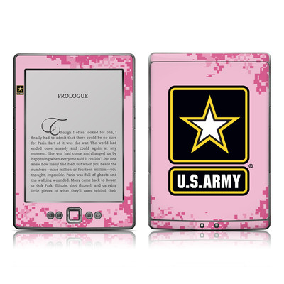 Kindle 4 Skin - Army Pink