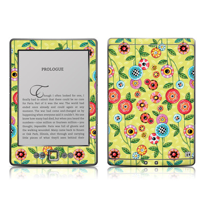 Kindle 4 Skin - Button Flowers