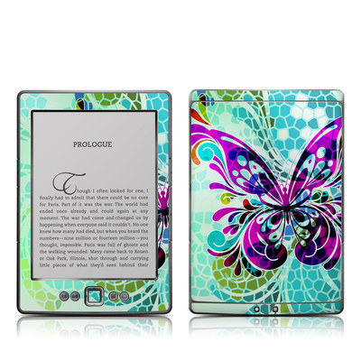 Kindle 4 Skin - Butterfly Glass