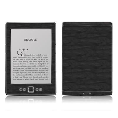 Kindle 4 Skin - Black Woodgrain