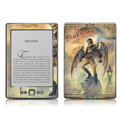 Kindle 4 Skin - The Black Baron