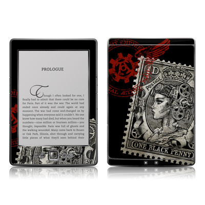 Kindle 4 Skin - Black Penny