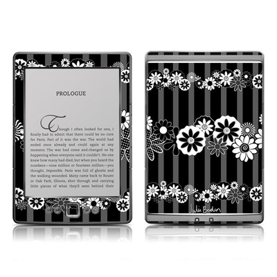 Kindle 4 Skin - Black Retro