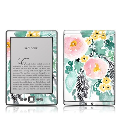 Kindle 4 Skin - Blushed Flowers
