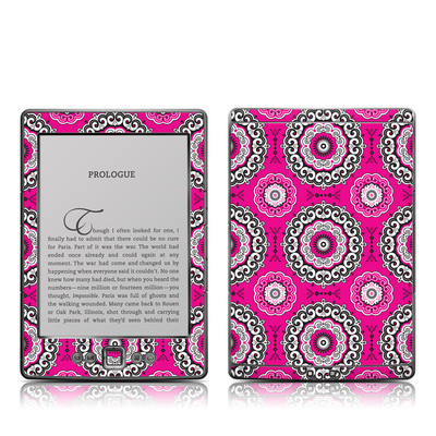 Kindle 4 Skin - Boho Girl Medallions