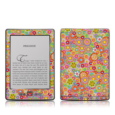 Kindle 4 Skin - Bright Ditzy