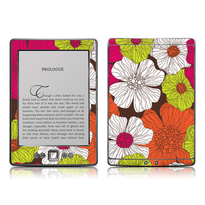 Kindle 4 Skin - Brown Flowers